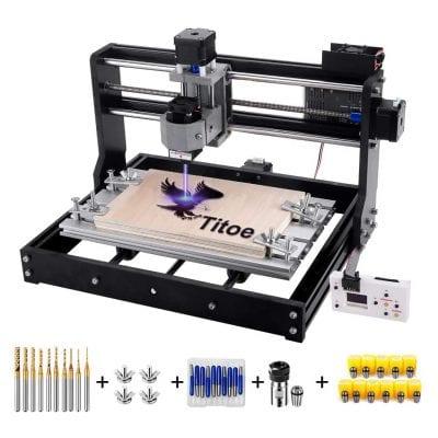 Titoe CNC Mini 2 In 1 7000Mw 3018 3 Axis Machine
