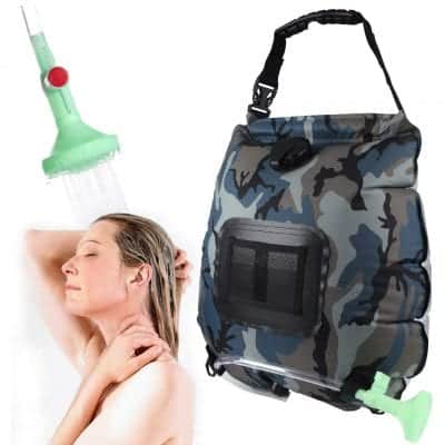 Lemcool Camping 5 Gallons Solar Shower Bag for Hiking and Outdoor Traveling
