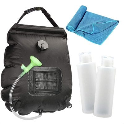 N c Solar 5 gallons Portable Camping Shower Bag with Heating Design