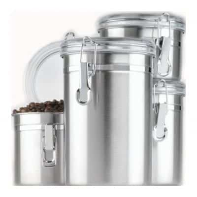 Anchor Hocking Stainless Steel Airtight Canister Set