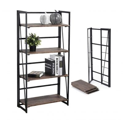 Coavas Folding Industrial Bookshelf