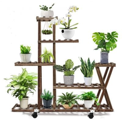 Multi-Tier Wooden Plant Stand
