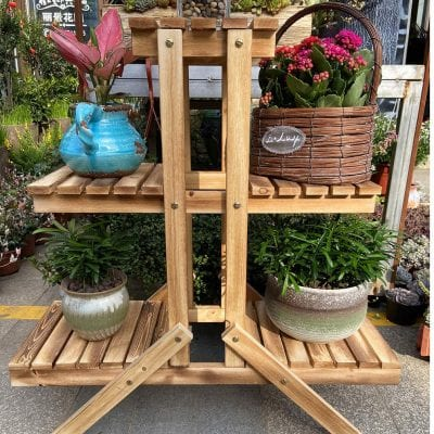 Simhoo Multi-Layer Wooden Plant Stand
