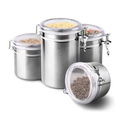 ENLOY Stainless Steel Airtight Canister Set