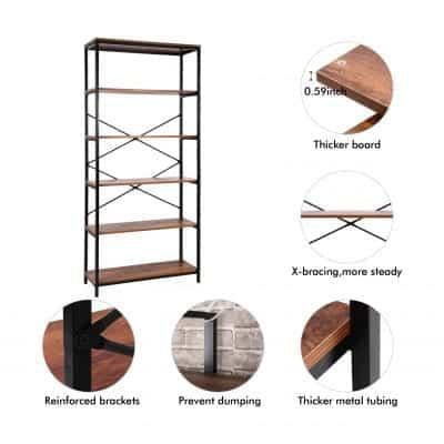 Modrine5- Vintage Industrial Style Bookshelf