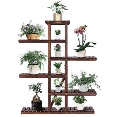 VIVOSUN Multi-Layer Wooden Plant Stand