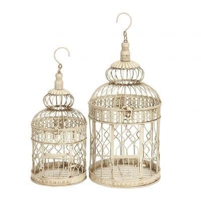 Deco 79 Hanging Decorative Bird Cage