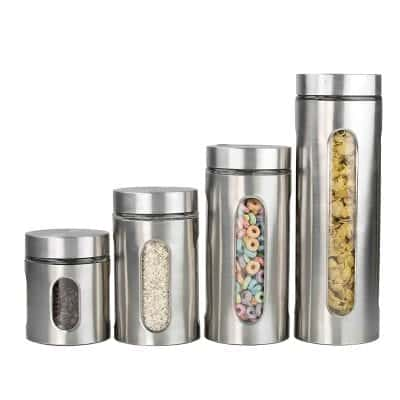 Home Basics Stainless Steel Airtight Canister Set