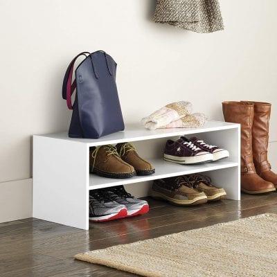 Whitmor 2-Shelf Stackable Wooden Shoe Rack