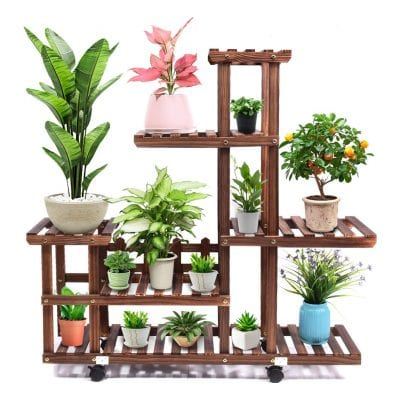 cfmour Wooden Plant Stand