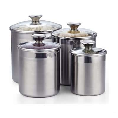 Cooks Standard Stainless Steel Airtight Canister Set