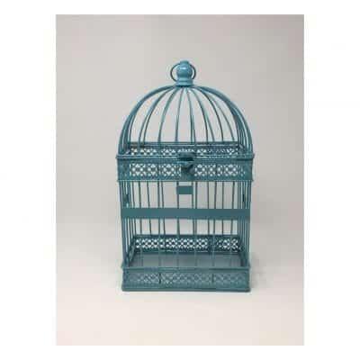 Teal Color Metal Birdcag