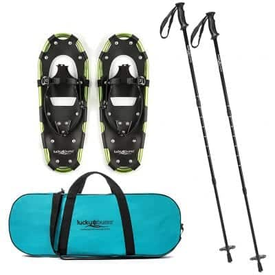 Lucky Bums Adult and Youth Snowshoes with Poles for Trekking
