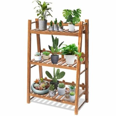 TOOCA 3-Tier Wooden Plant Stand