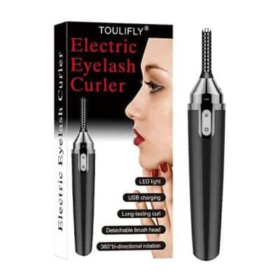 TOULIFLY Electric Heated Eyelash Curler Beauty Make Up Tool, USB Rechargeable