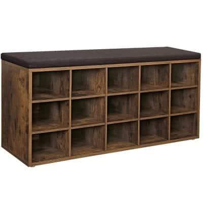 VASAGLE ULHS15BX Wooden Shoe Rack