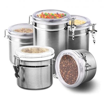 Le'raze Stainless Steel Airtight Canister Set