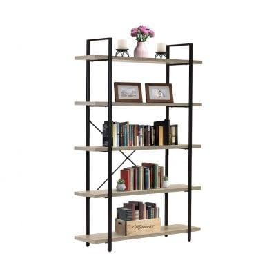 Sorbus 5 -Tiers Open Industrial Bookshelf
