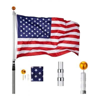 CO-Z 16ft Telescoping Flag Poles