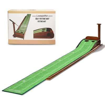 Loowoko Wooden Golf Putting Mat