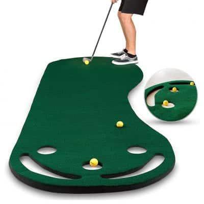 Abco Tech Golf Putting Mat, 3 Golf Balls