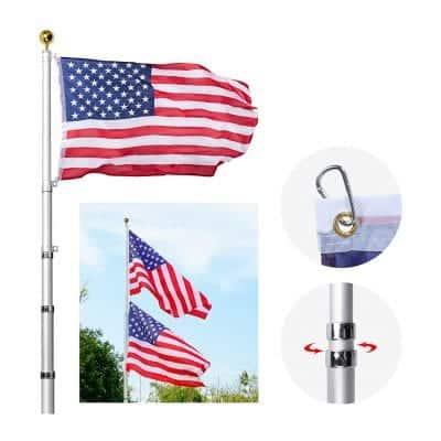 AkTop 20FT Telescoping Flag Poles