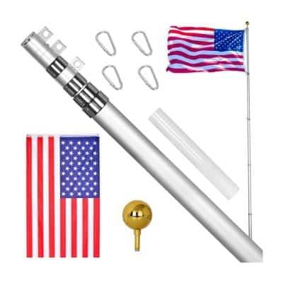 GUOHONG 25FT Telescoping Flag Poles