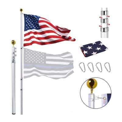 20FT Telescoping Flag Pole Kit
