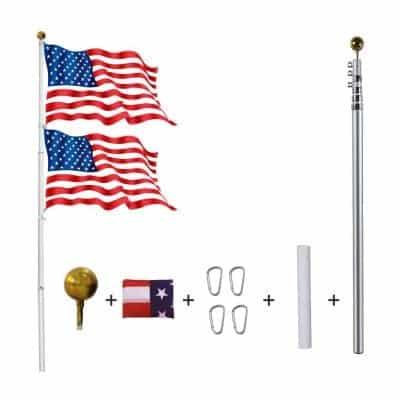 YDisplay Telescoping Flag Pole Kit
